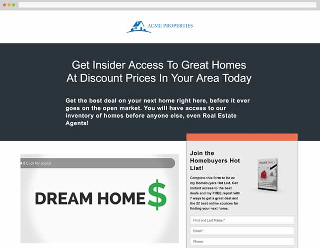 real estate investing software custom websites